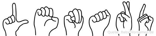 Lenard in Fingersprache für Gehörlose