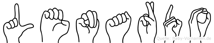 Lenardo in Fingersprache für Gehörlose