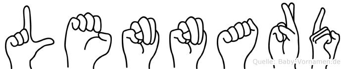 Lennard in Fingersprache für Gehörlose