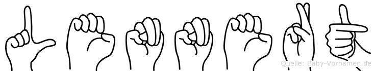 Lennert im Fingeralphabet der Deutschen Gebärdensprache