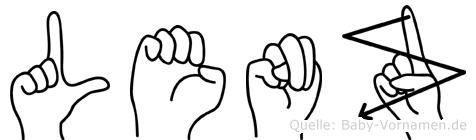 Lenz in Fingersprache für Gehörlose