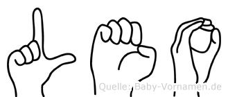 Leo im Fingeralphabet der Deutschen Gebärdensprache