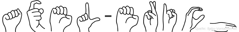 Axel-Erich im Fingeralphabet der Deutschen Gebärdensprache