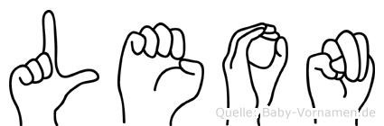 Leon in Fingersprache für Gehörlose