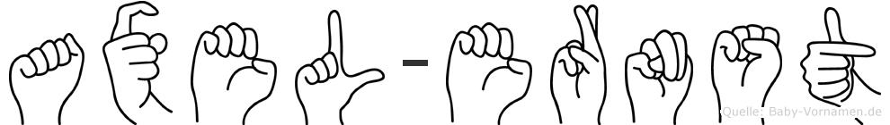 Axel-Ernst im Fingeralphabet der Deutschen Gebärdensprache
