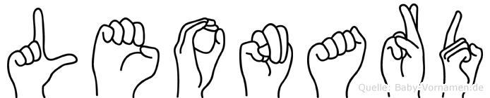 Leonard in Fingersprache für Gehörlose