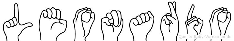Leonardo in Fingersprache für Gehörlose