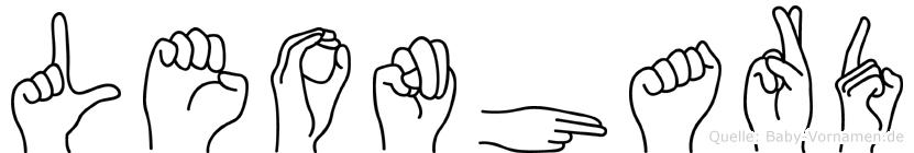 Leonhard im Fingeralphabet der Deutschen Gebärdensprache
