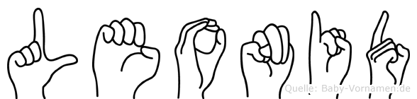 Leonid im Fingeralphabet der Deutschen Gebärdensprache