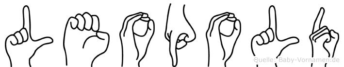 Leopold in Fingersprache für Gehörlose