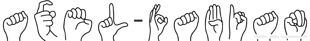 Axel-Fabian im Fingeralphabet der Deutschen Gebärdensprache