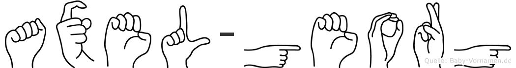 Axel-Georg im Fingeralphabet der Deutschen Gebärdensprache