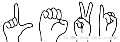 Levi in Fingersprache für Gehörlose