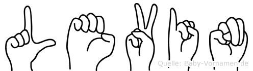 Levin im Fingeralphabet der Deutschen Gebärdensprache
