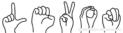Levon im Fingeralphabet der Deutschen Gebärdensprache