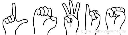 Lewis in Fingersprache für Gehörlose