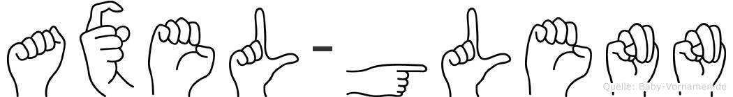 Axel-Glenn im Fingeralphabet der Deutschen Gebärdensprache
