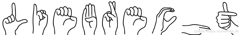 Liebrecht in Fingersprache für Gehörlose