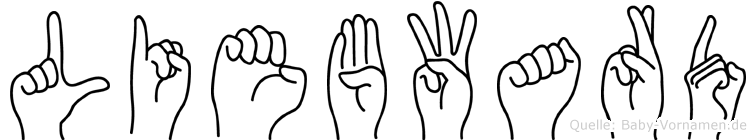 Liebward im Fingeralphabet der Deutschen Gebärdensprache
