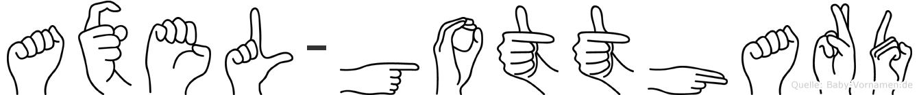 Axel-Gotthard im Fingeralphabet der Deutschen Gebärdensprache