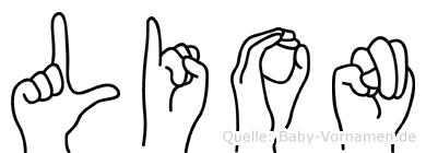 Lion in Fingersprache für Gehörlose