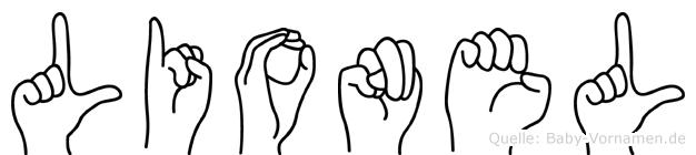 Lionel in Fingersprache für Gehörlose