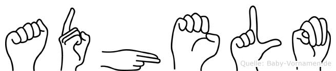 Adhelm in Fingersprache für Gehörlose