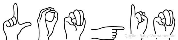 Longin in Fingersprache für Gehörlose