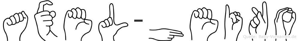 Axel-Heiko im Fingeralphabet der Deutschen Gebärdensprache