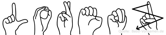 Lorenz in Fingersprache für Gehörlose