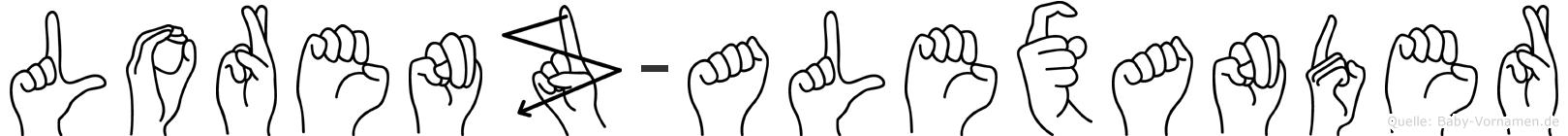 Lorenz-Alexander im Fingeralphabet der Deutschen Gebärdensprache