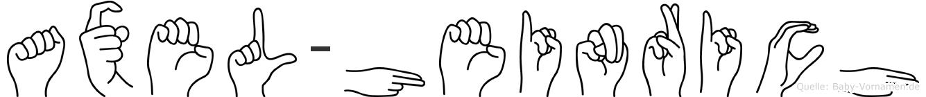 Axel-Heinrich im Fingeralphabet der Deutschen Gebärdensprache