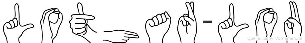 Lothar-Lou im Fingeralphabet der Deutschen Gebärdensprache