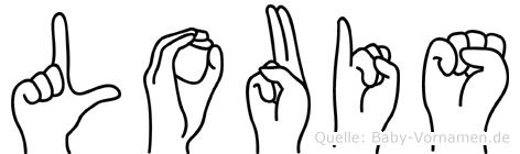 Louis im Fingeralphabet der Deutschen Gebärdensprache