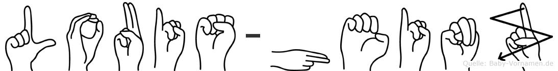 Louis-Heinz im Fingeralphabet der Deutschen Gebärdensprache