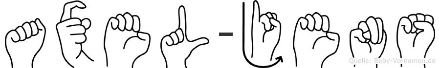 Axel-Jens im Fingeralphabet der Deutschen Gebärdensprache