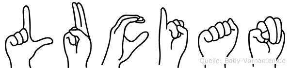 Lucian in Fingersprache für Gehörlose
