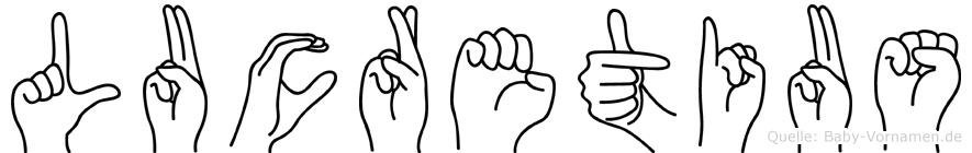 Lucretius in Fingersprache für Gehörlose