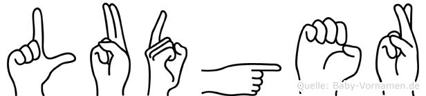 Ludger im Fingeralphabet der Deutschen Gebärdensprache