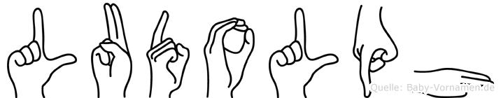 Ludolph im Fingeralphabet der Deutschen Gebärdensprache