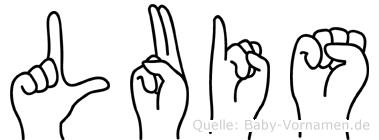 Luis in Fingersprache für Gehörlose
