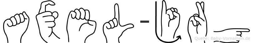 Axel-Jörg im Fingeralphabet der Deutschen Gebärdensprache
