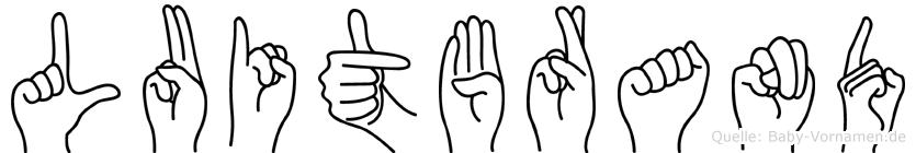 Luitbrand im Fingeralphabet der Deutschen Gebärdensprache