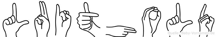 Luithold im Fingeralphabet der Deutschen Gebärdensprache
