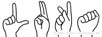 Luka im Fingeralphabet der Deutschen Gebärdensprache