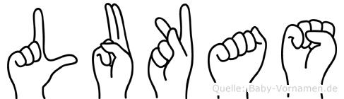 Lukas in Fingersprache für Gehörlose