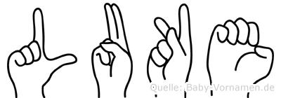 Luke im Fingeralphabet der Deutschen Gebärdensprache