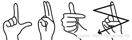 Lutz in Fingersprache für Gehörlose