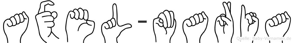 Axel-Maria im Fingeralphabet der Deutschen Gebärdensprache