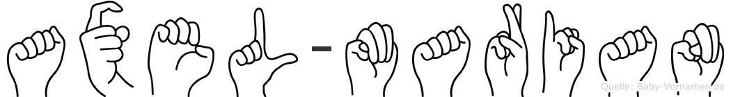 Axel-Marian im Fingeralphabet der Deutschen Gebärdensprache